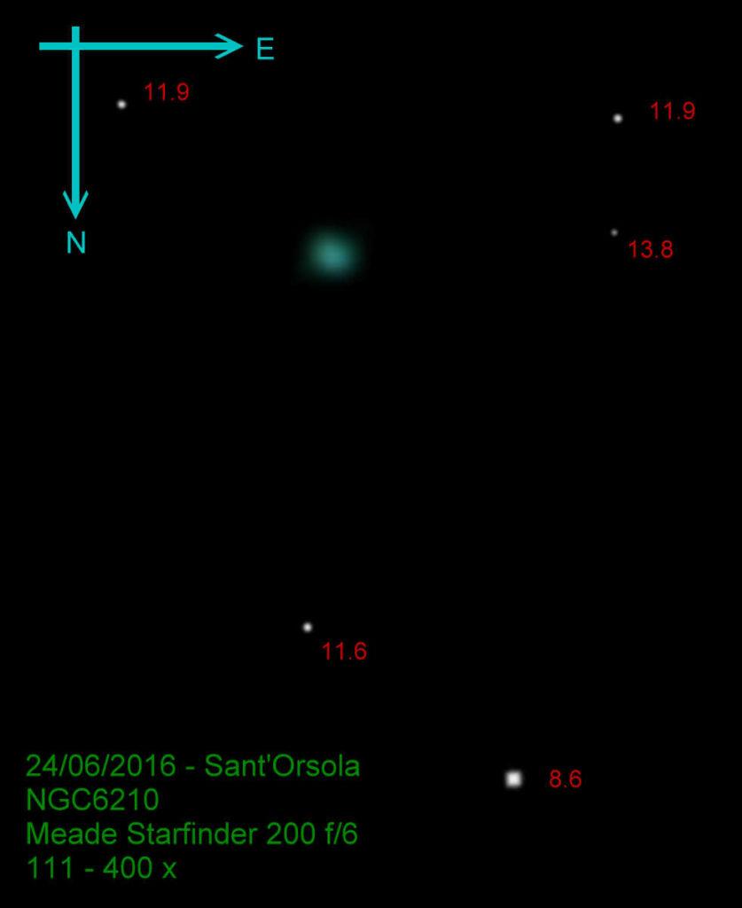 NGC6210 Etichette